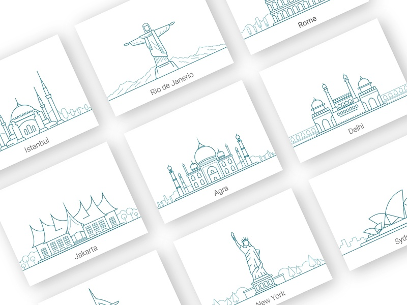 City Graphics world architecture error page emoji carddesign blue dubai india event allevents graphic icon typography webdesign illustration art famous ux ui city