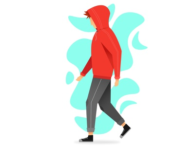Just Walk! branding debut dribbble mobile ux animation flat colorful dailyui blue logo red webdesign typography vector ui design character illustration graphic