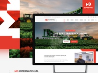 MD International website UI/UX design
