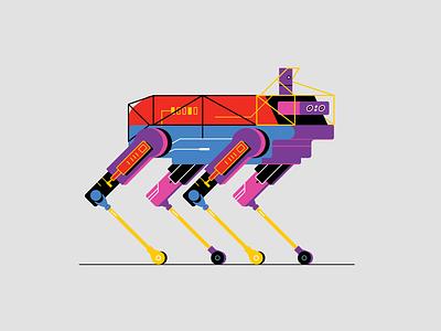 Boston Dynamics explainer video characters illustration startup hardware human simulation spot robot dog future robotic robotics boston dynamics dog robot