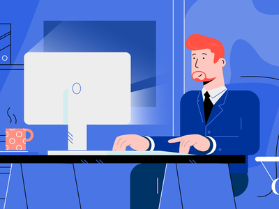 Searching for the character's style business engineer chief ceo manager worker office character characters illustrations explainer video illustration explainer
