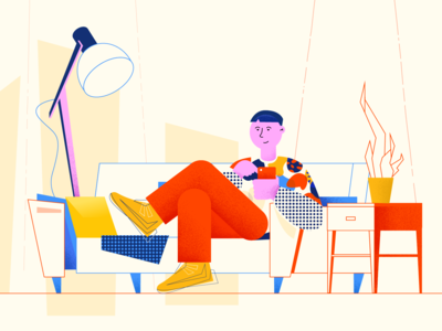 Searching for the character's style explainer illustrations explainer video characters character illustration kids kid at home touchscreen home hipsters guy young adult young life younger young hipster