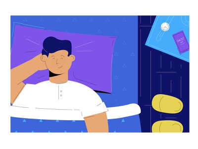 How To Stop Nightmares From Destroying Your Sleep bedroom bed alarm morning clock wakeup wake up nightmares nightmare dream sleep night ufo explainer explainer video 2d animation illustration characters character illustrations