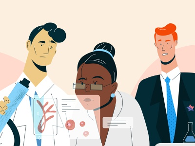 Valuables scientific science and technology science illustration scientist laboratory doc lab explainer future science characters