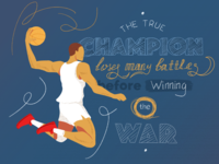 The true champion loses many battles before winning the war