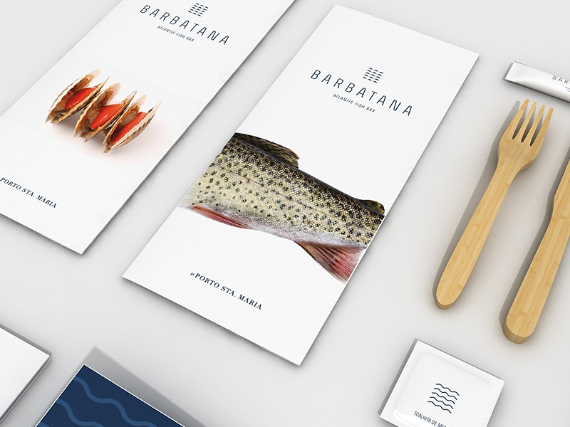 Barbatana Atlantic Fish Bar by Porto de Santa Maria stationary branding