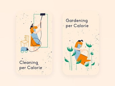 Illustrations for Calorie Counter App