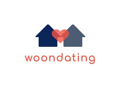 Woondating corporate identity branding design logo houses dating
