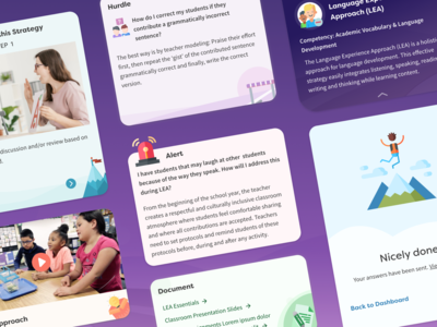 Mobile & Desktop Education App Cards