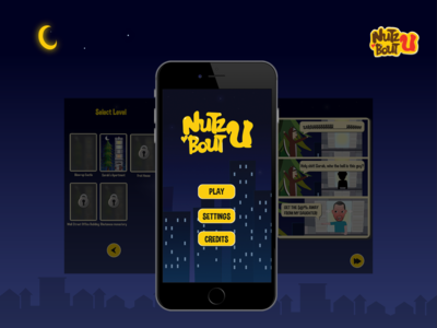 Nutz 'Bout U Game App Screen Design