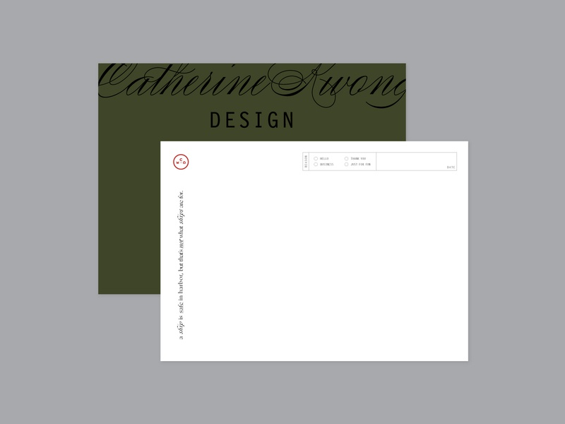 Catherine Kwong Design Note Card