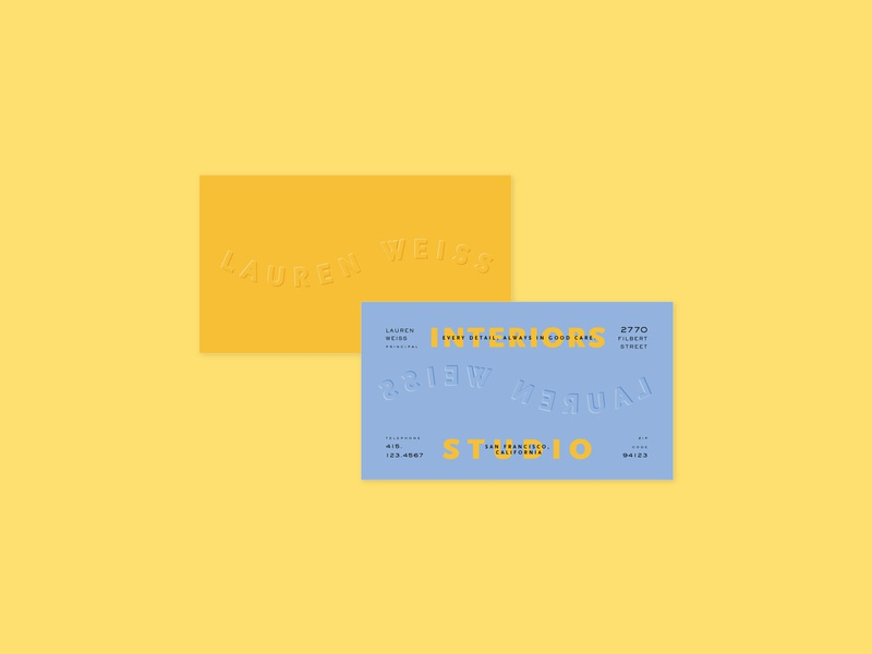 Lauren Weiss Business Card Concept