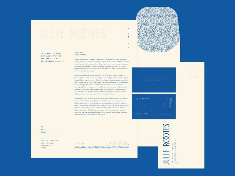 Julie Rootes Interiors Collateral Concept