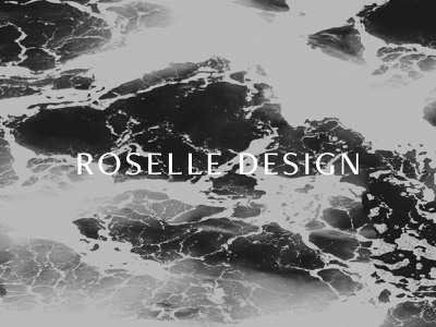 Roselle Logo moody clean modern logotype interior design brand identity branding black and white photographic texture