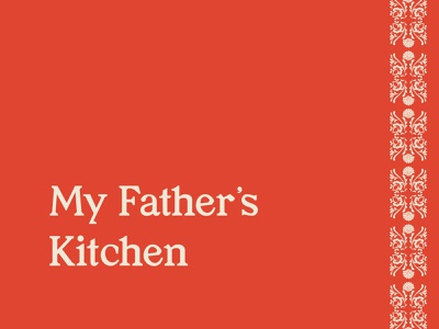 My Father's Kitchen Rebrand Concept classic modern bold color red vietnamese asian type typography branding design brand identity logotype logo branding