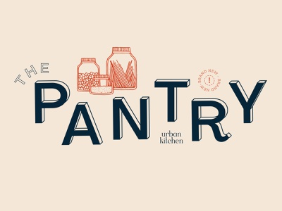 The Pantry pantry illustration typography food ecommerce cookingschool kitchen branding brand identity logo