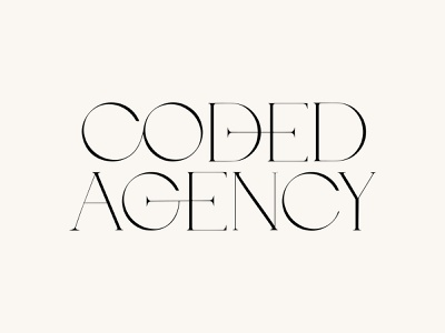 Coded Agency Wordmark logotype glyphs ligatures typography wordmark logo