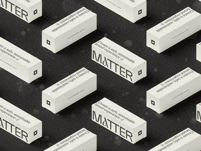 Matter Boxes packaging mockup edgy modern blackandwhite covid antimicrobial packaging