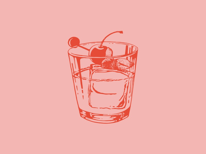 Old-Fashioned Cocktail recipe old-fashioned cocktail illustration