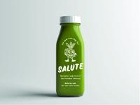 Salute Juice Packaging Mockup