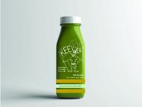 Keewee Juice Bottle Mockup