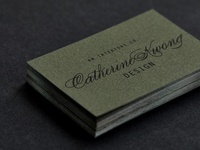 Business Card Details for Catherine Kwong Design