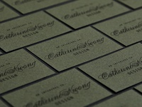Details of Catherine Kwong Design's business cards