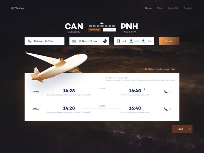 Ticket page aircraft airlines illustration fly ticket ux web travel page landing ui