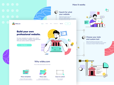 Wibku.com - Landing Page Illustration Exploration