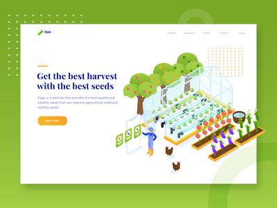 Bijik - Header Illustration Agricultural seed  website