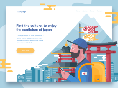 Traveltrip landing page concept