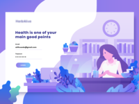 Insurance landing page concept