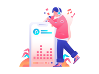 Music Apps Illustration concept
