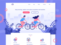 ONTEL - Sharing Bike Illustration Website
