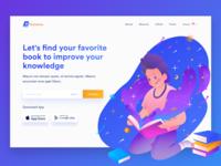 Bukubuku - Header Illustration Exploration for Books Website