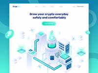 Cryptofun - Header Illustration for Cryptocurrency website