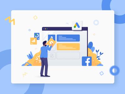 AdsOn - illustration Ads Management