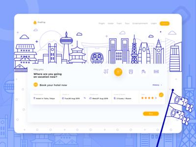 Firetrip - ticket booking website illustration