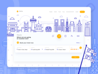 Firetrip - ticket booking website illustration
