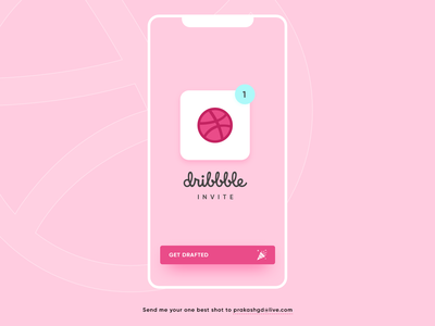 One Dribbble Invite Giveaway! iphone invite giveaway invite draft app logo illustration dribbble prakashgd ux ui art design