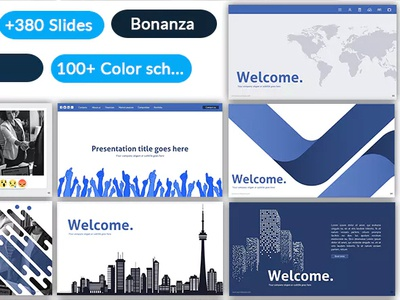 Social media - Pitch deck presentation template by Heshan on
