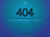 404 Errorpage Blue