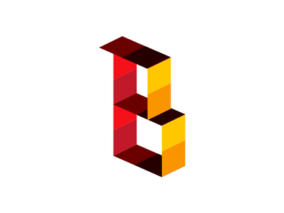 B Block Logo block letter b
