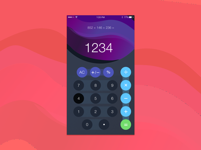 DailyUI #004 Calculator calculator dailyui