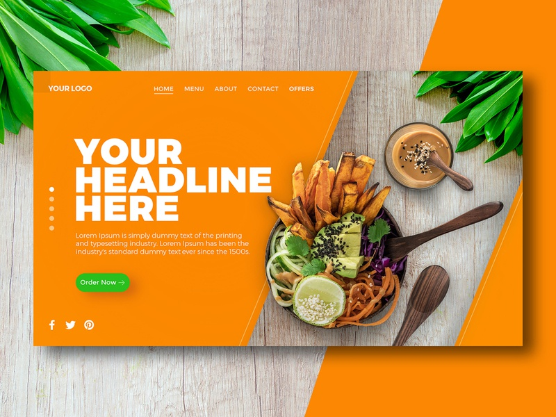 Healthy food banner concept.