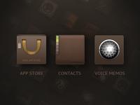 Icon:app store、contacts、voice memos