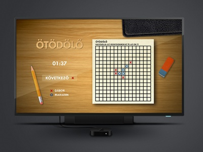IPTV Five-In-A-Row iptv interface game tic-tac-toe five-in-a-row boardgame skeumorphic tv web design microsoft mediaroom