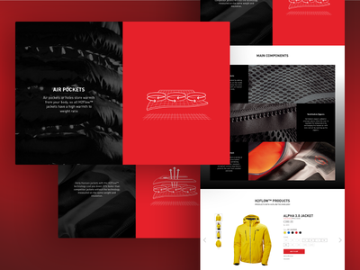 Helly Hansen - UI Prototype landing sports product scroll parallax grid layout prototype design ui