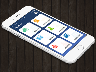 Student App Home Screen Concept