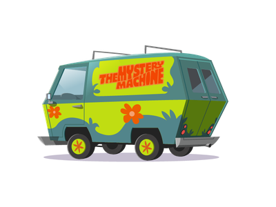 """""""if it weren't for you meddling kids, and your dog"""" transport van childhood mystery machine scooby doo"""